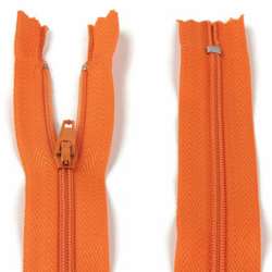 "Nylon Zip - 8"" (20cm) - Orange"