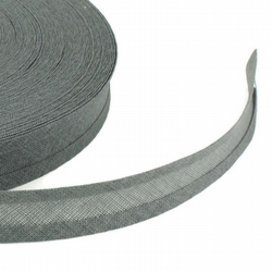 Bias Binding - 25mm - Mid Grey
