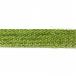 Open Weave Jute Ribbon - Pistachio - 15mm