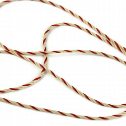 Bakers Twine - Wine & Ivory - 1mm