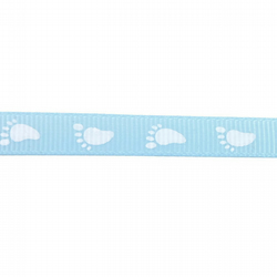 Bootees Ribbon - Baby Blue - 10mm