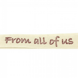 From All of Us Ribbon - Natural - 15mm
