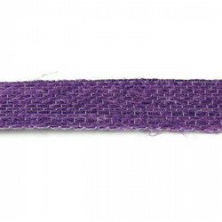 Open Weave Jute Ribbon - Purple - 15mm