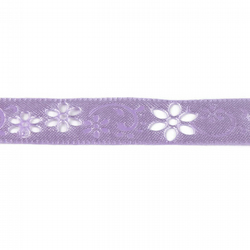 Laser Cut Flower Ribbon - Lilac - 12mm