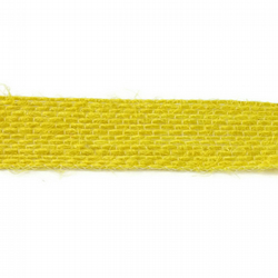 Open Weave Jute Ribbon - Yellow - 15mm