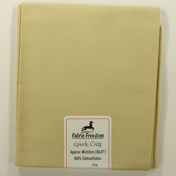 Fabric Freedom - Quick Cuts - Cotton Poplin - Beige - Fat Quarter