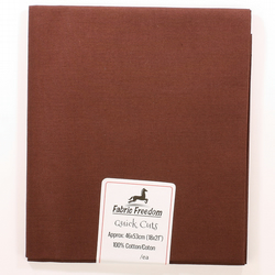 Fabric Freedom - Quick Cuts - Cotton Poplin - Chocolate Brown - Fat Quarter