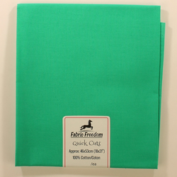 Fabric Freedom - Quick Cuts - Cotton Poplin - Jade - Fat Quarter