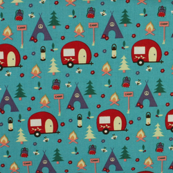 Fabric Freedom - Camping - Caravans & Teepees - Fat Quarter