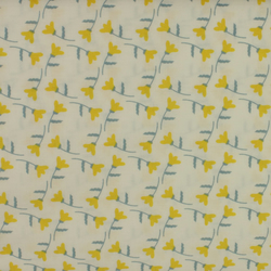 Fabric Freedom - Heritage Flowers - Yellow Flowers on White - Fat Quarter