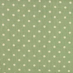 Sevenberry - Linen Mix - Cream spot on Green - Fat Quarter