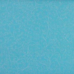 Windham Fabrics - The Cats Meow - Turquoise Swirl - Fat Quarter