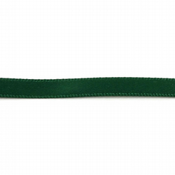 Double Satin Ribbon - Forest Green - 6mm