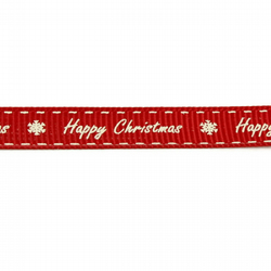 Happy Christmas - Red - 9mm - Bertie's Bows