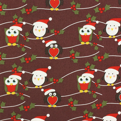 Fabric Freedom - Christmas Characters - Owls & Penguins - Fat Quarter