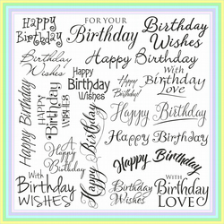 Greeting Card - Captions Font - OPEN BIRTHDAY