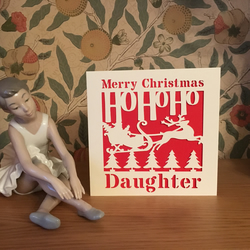 Merry Christmas Daughter Card