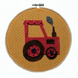 Tractor Picture - Embroidery Hoop Wall Art