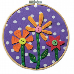 Garden Picture - Embroidery Hoop Wall Art