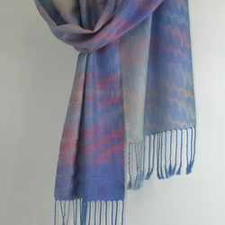 Silk Scarf in Sunset Sky Colours