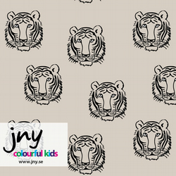 Tiger organic jersey fabric by JNY Colourful Kids (half metre)