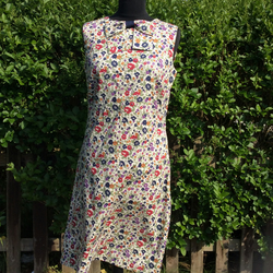 A Line Liberty Lawn Vintage  Style dress with Same fabric bow