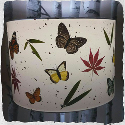Butterfly, Maple and Bamboo Lampshade