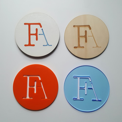 branded coasters - set of 4