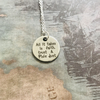 Disney Peter Pan Inspired Quote Necklace