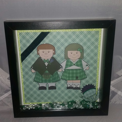 Tartan theme wedding box frame