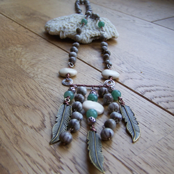 Tranquil (feather charm necklace)