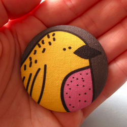 Birdy Fabric Badge