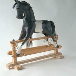 20 cm Rocking horse, on a safety Frame REDUCED DUE TO ILLNESS FREE P & P