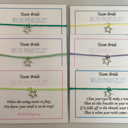 Wish or Infinity Bracelet - Hen Party Wedding Friendship Birthday