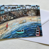 A Brisk Walk, blank greetings card