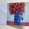 Happiness, blank greetings card
