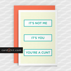 Rude Break-Up Card - It's Not Me It's You - Funny greeting cards - Offensive