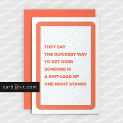 Rude Break-Up Card - Loads Of One Night Stands- Funny greeting cards - Offensive