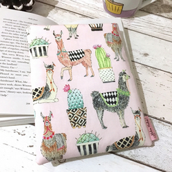 Pink Alpaca Medium Book Buddy - Padded Indie Book Protector