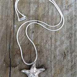 Large Starfish Necklace, cast in Reflections Sterling Silver