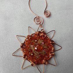 COPPER SUN Sun Catcher