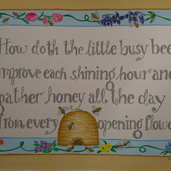 How doth the little busy bee...a blank greetings card celebrating our bees