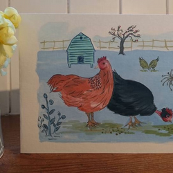 Jude and Hilda....a greetings card for the chicken lover in your life!