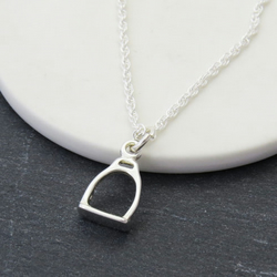 Sterling Silver Stirrup Necklace, Horse lover Gift, Equestrian Jewellery