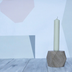 Goya Geometric Candle stick Holder, Handmade from Reclaimed Oak  FREE GIFT