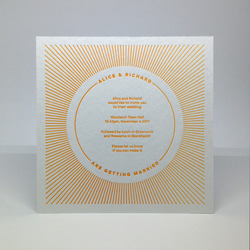 50 Letterpress Wedding Invitations