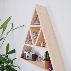 Large Triangle Shelf, Geometric Shelf