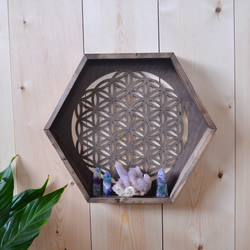 Flower Of Life Hexagon Shelf