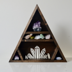 Crystal Cluster Triangle Shelf
