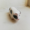 Handmade ceramic guinea pig figure in black and white 4 pocket pet lover